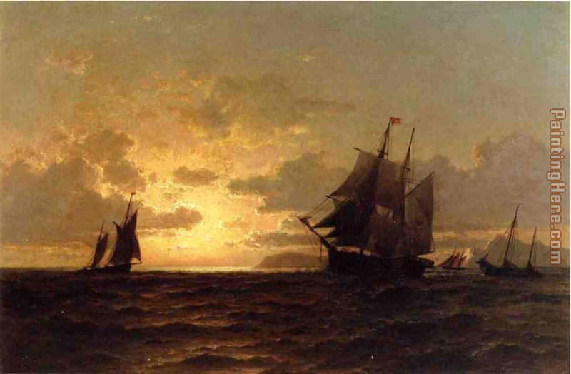 Return of the Whales painting - William Bradford Return of the Whales art painting