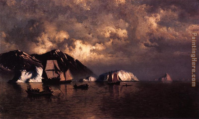 Seiners off the Coast of Labrador painting - William Bradford Seiners off the Coast of Labrador art painting