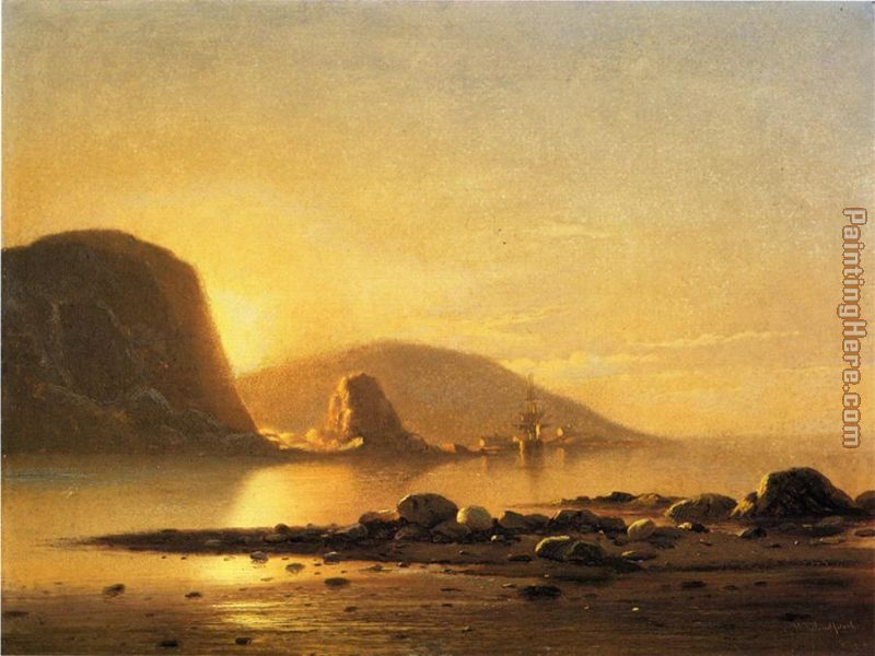 Sunrise Cove painting - William Bradford Sunrise Cove art painting