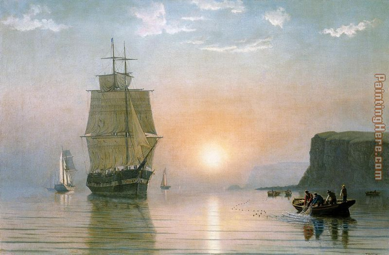 Sunrise off Grand Manan painting - William Bradford Sunrise off Grand Manan art painting