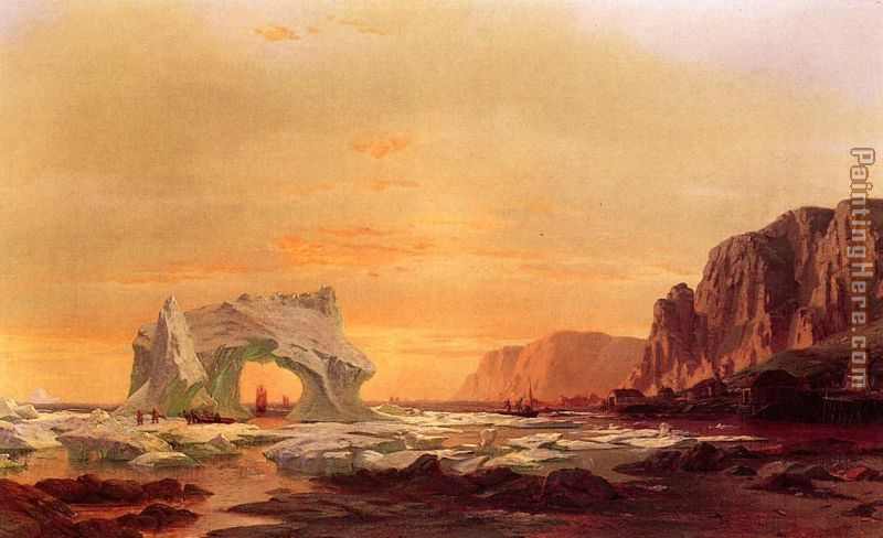 The Archway painting - William Bradford The Archway art painting