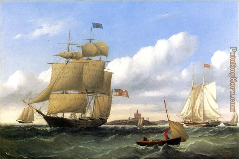 The Whaleship 'Emma C. Jones' Off Round Hills, New Bedford