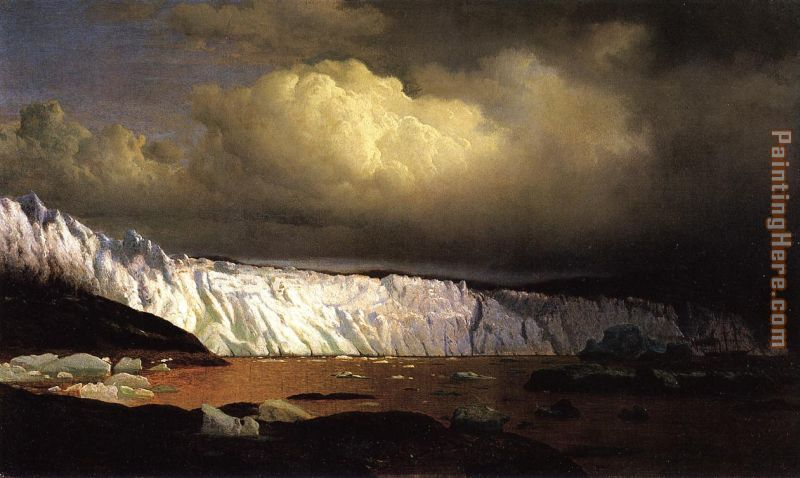 View of Sermitsialik Glacier painting - William Bradford View of Sermitsialik Glacier art painting