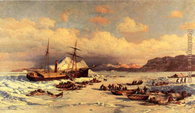 Voyage painting - William Bradford Voyage art painting