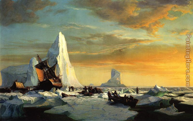 Whalers Trapped by Arctic Ice painting - William Bradford Whalers Trapped by Arctic Ice art painting