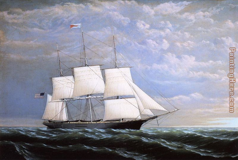 Whaleship 'Syren Queen' of Fairhaven painting - William Bradford Whaleship 'Syren Queen' of Fairhaven art painting