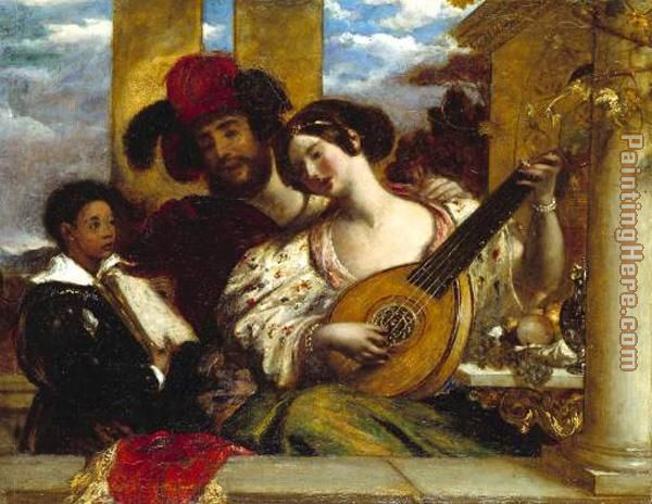The Duet painting - William Etty The Duet art painting