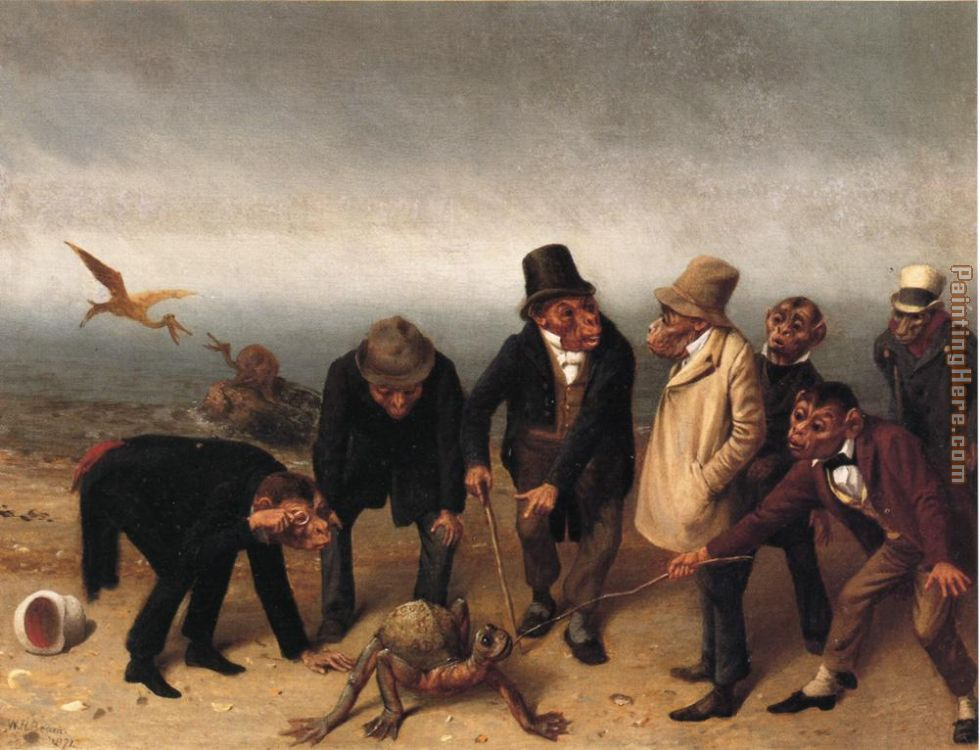 Discovery of Adam painting - William Holbrook Beard Discovery of Adam art painting