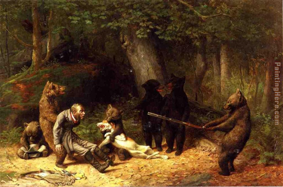 Making Game of the Hunter painting - William Holbrook Beard Making Game of the Hunter art painting