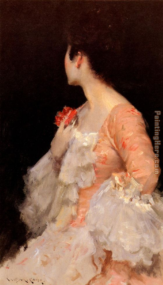 William Merritt Chase Portrait of a Lady Art Painting