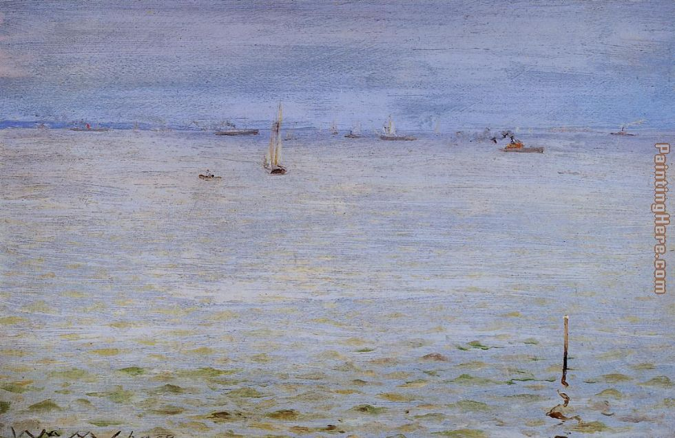 William Merritt Chase Seascape Art Painting