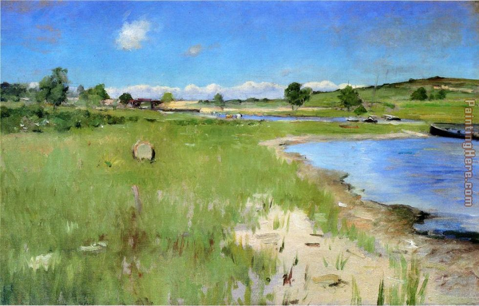 Shinnecock Hills from Canoe Place, Long Island painting - William Merritt Chase Shinnecock Hills from Canoe Place, Long Island art painting