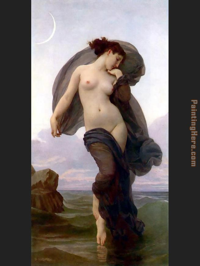 William Bouguereau Evening Mood Art Painting