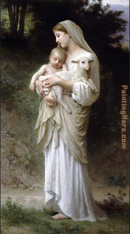 Innocence painting - William Bouguereau Innocence art painting