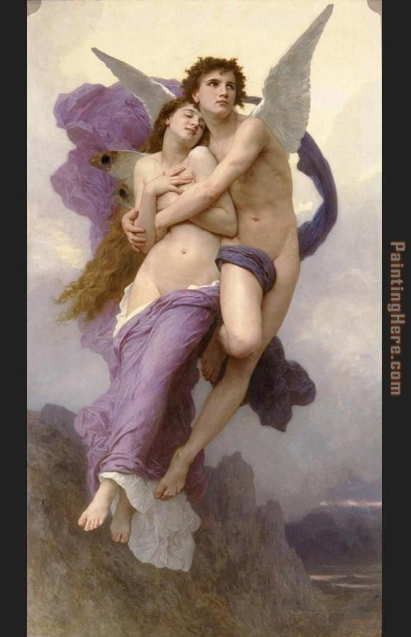 The Abduction of Psyche painting - William Bouguereau The Abduction of Psyche art painting