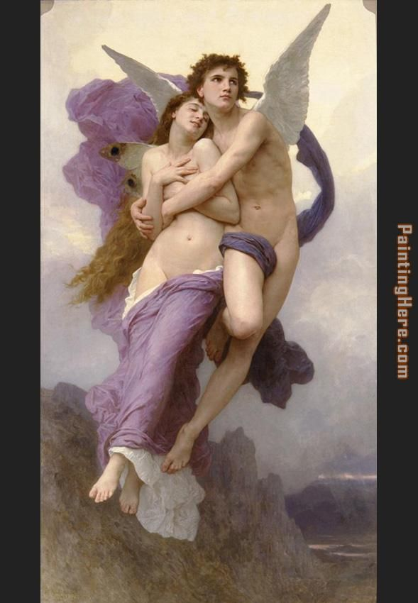 William Bouguereau The Rapture of Psyche Art Painting