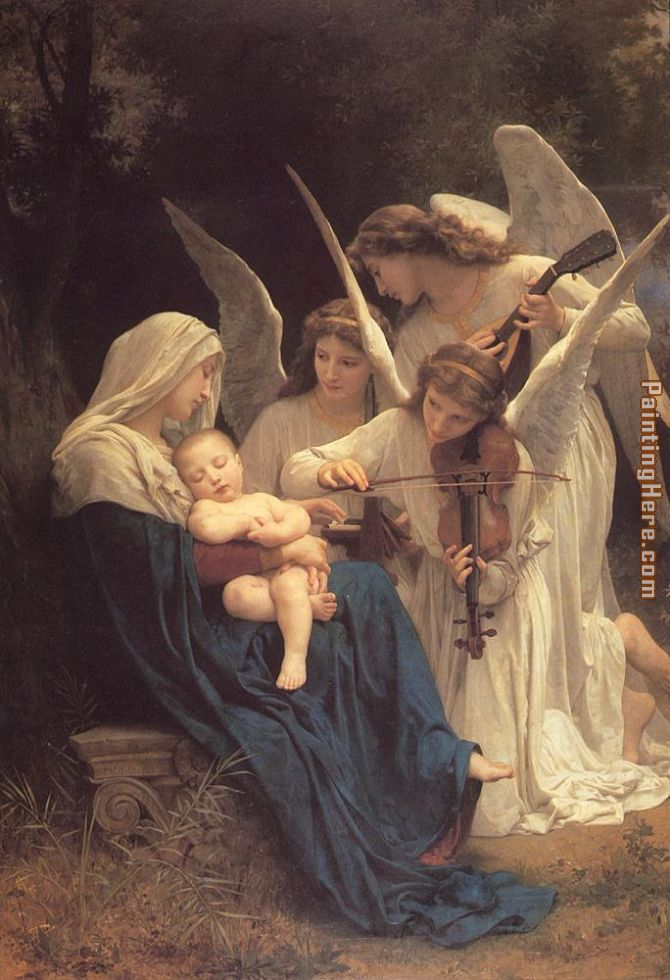 The Virgin with Angels painting - William Bouguereau The Virgin with Angels art painting