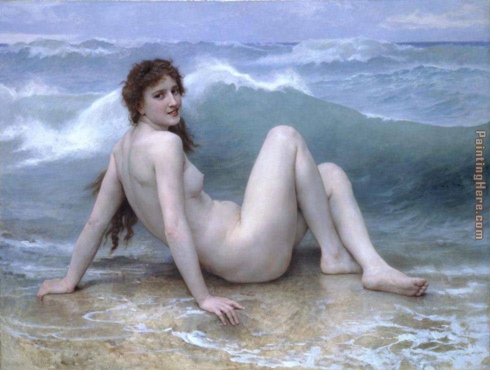 The Wave painting - William Bouguereau The Wave art painting