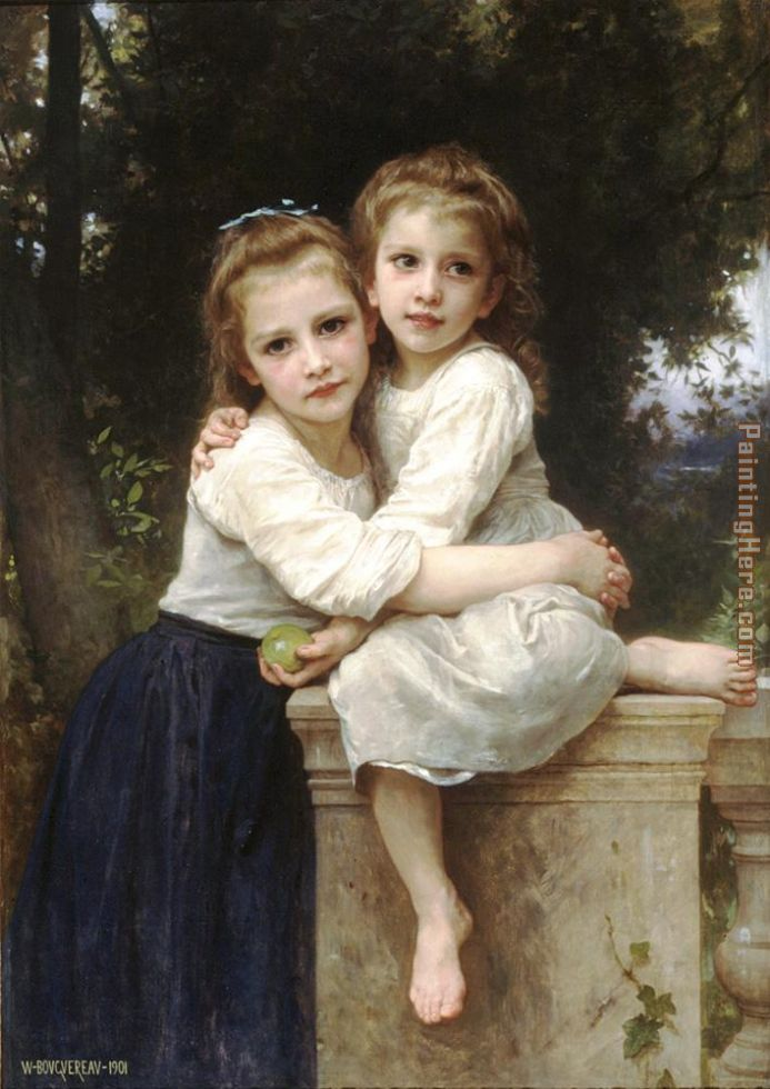 William Bouguereau Two Sisters Painting anysize 50% off