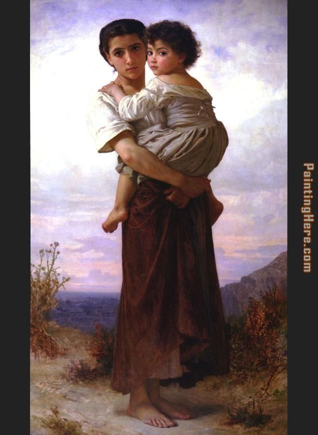 William Bouguereau Young Gypsies Art Painting