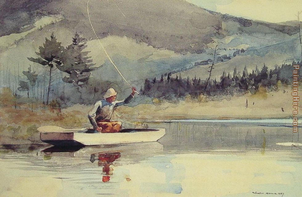 A Quiet Pool on a Sunny Day painting - Winslow Homer A Quiet Pool on a Sunny Day art painting