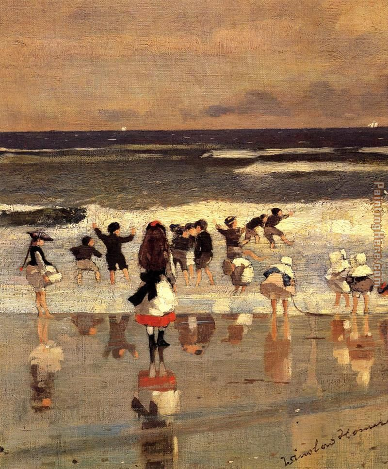 Beach Scene painting - Winslow Homer Beach Scene art painting