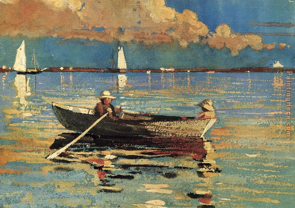 Gloucester Harbor painting - Winslow Homer Gloucester Harbor art painting