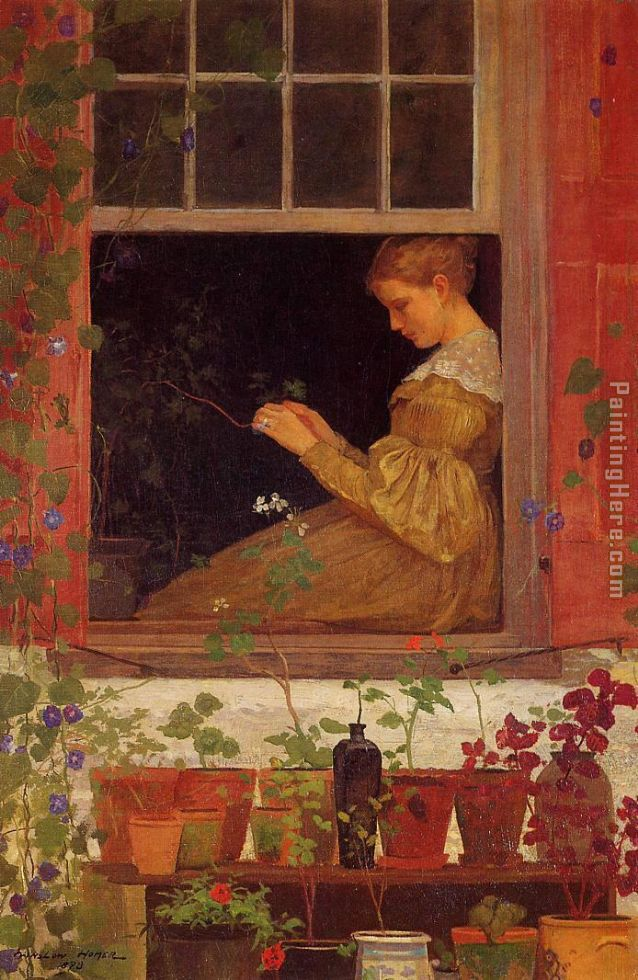 Winslow Homer Morning Glories Art Painting