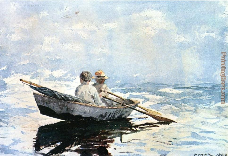 Rowboat painting - Winslow Homer Rowboat art painting