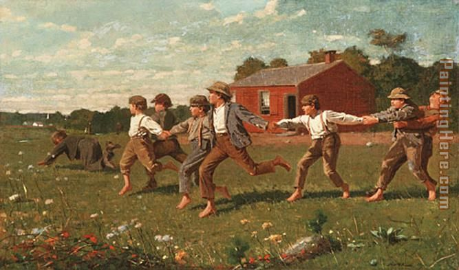 Snap the Whip painting - Winslow Homer Snap the Whip art painting