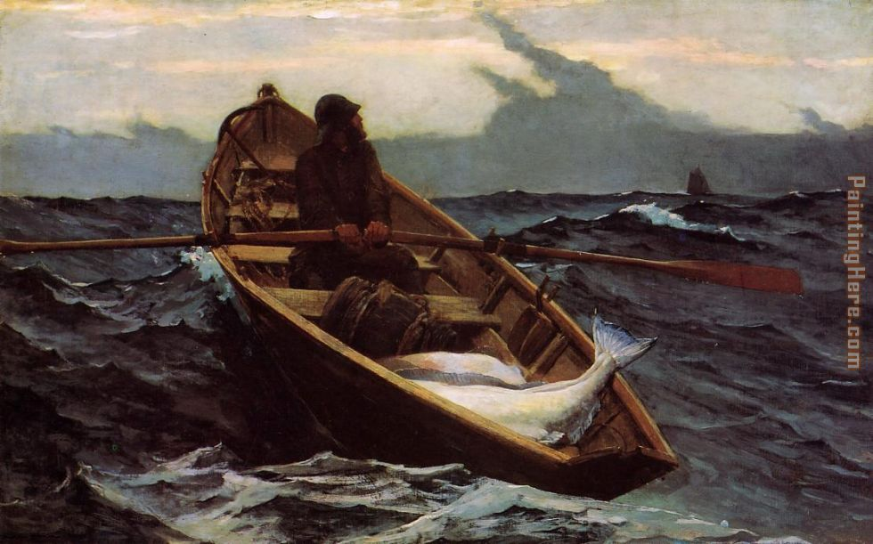 The Fog Warning painting - Winslow Homer The Fog Warning art painting