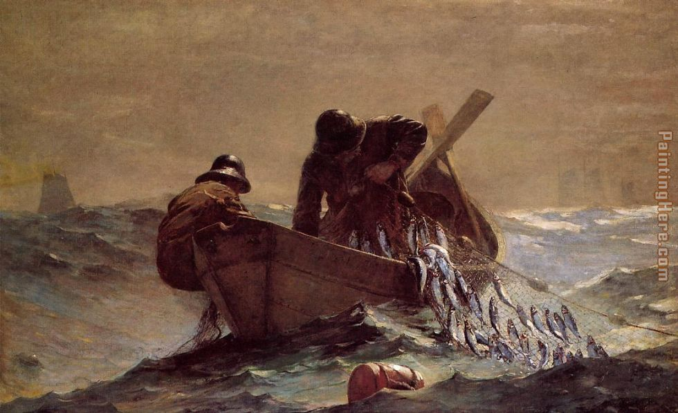 The Herring Net painting - Winslow Homer The Herring Net art painting