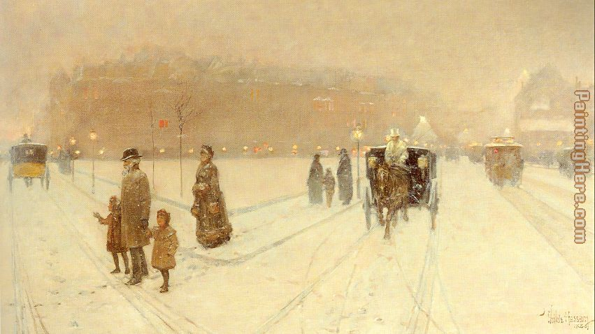 A City Fairyland painting - childe hassam A City Fairyland art painting