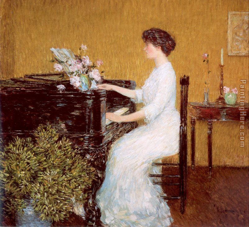 At the Piano painting - childe hassam At the Piano art painting