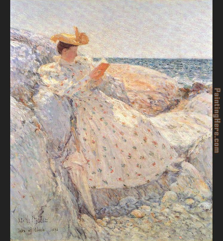 Summer Sunlight painting - childe hassam Summer Sunlight art painting