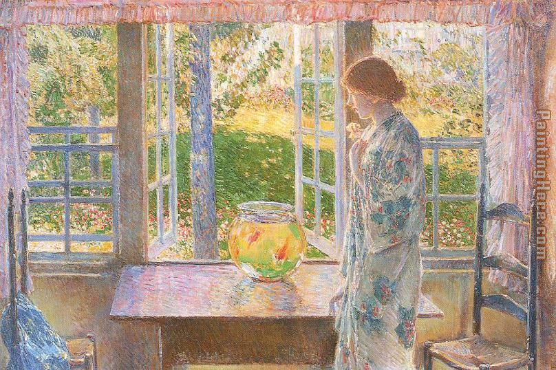 Childe Hassam The Goldfish Window Painting Anysize 50 Off