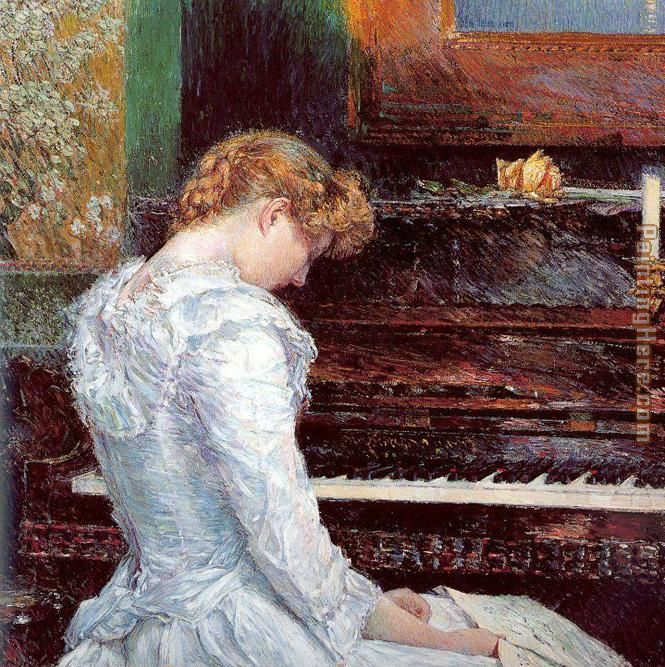 The Sonata painting - childe hassam The Sonata art painting
