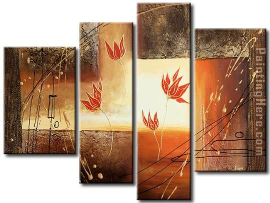 flower 22227 Stretched Canvas Painting