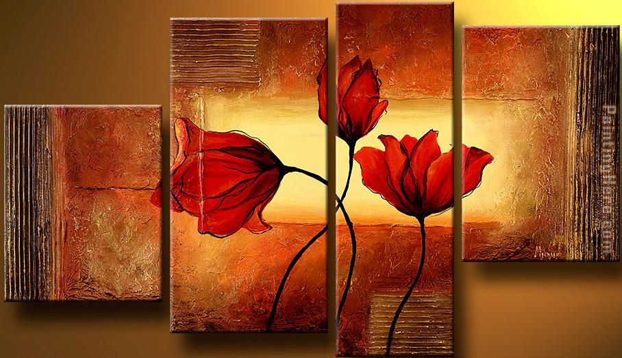flower 22271 Stretched Canvas Painting