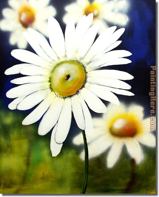 flower 2589 Stretched Canvas Painting