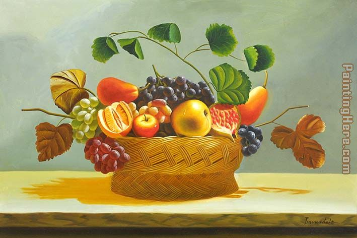 The Fruit Basket painting - flower The Fruit Basket art painting