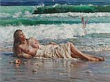 nude on the beach by Guan zeju