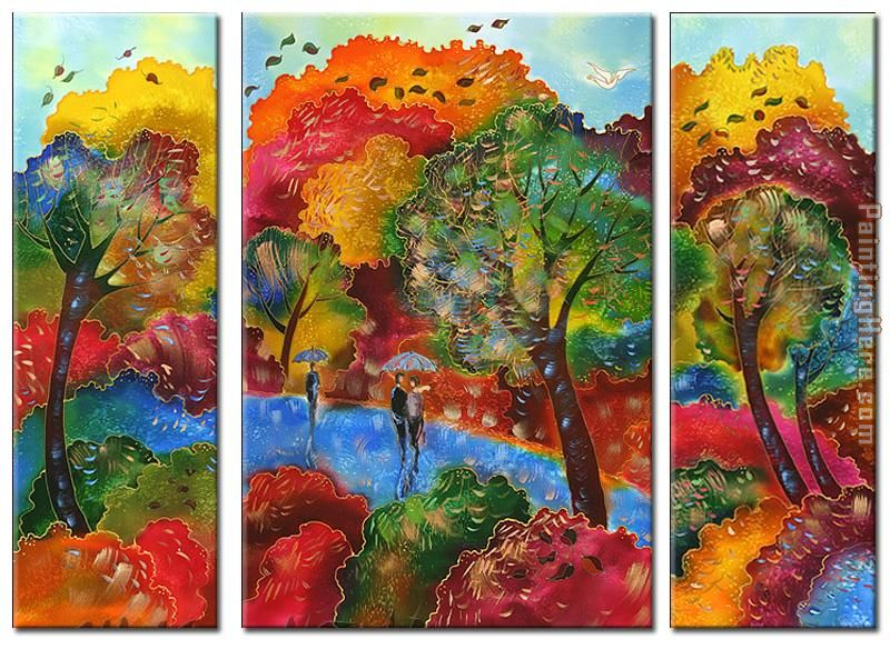 Autumn Wind painting - landscape Autumn Wind art painting
