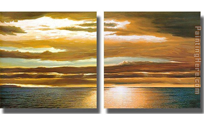 landscape Dan Werner Reflections on the Sea Stretched Canvas Painting