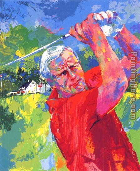Arnold Palmer at Latrobe painting - Leroy Neiman Arnold Palmer at Latrobe art painting