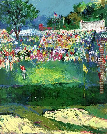 Bethpage Black Course 2002 u.s. Open painting - Leroy Neiman Bethpage Black Course 2002 u.s. Open art painting