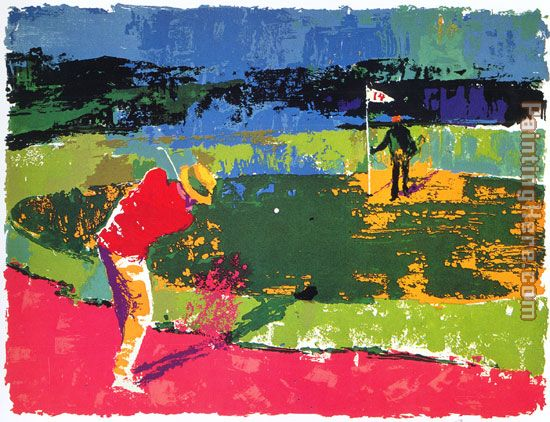Leroy Neiman Chipping On Art Painting