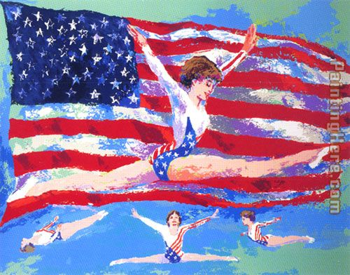 Golden Girl painting - Leroy Neiman Golden Girl art painting