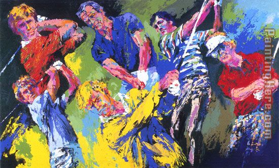Golf Winners painting - Leroy Neiman Golf Winners art painting