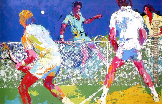 Leroy Neiman Men's Doubles Art Painting